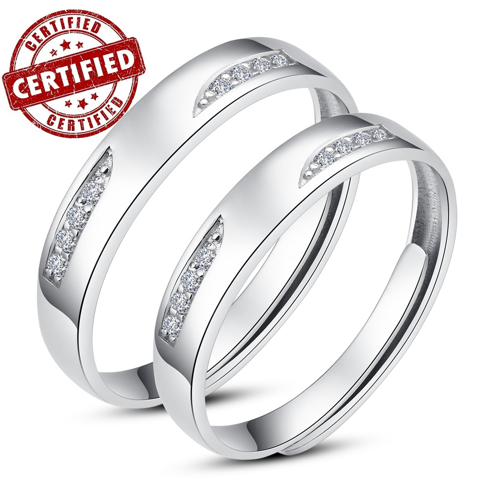 2 pieces a pair certified 100 solid sterling silver
