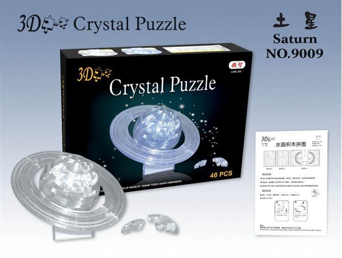 Puzzle,Puzzle- 3D Crystal Puzzle made of non-toxic plastic with free shipping cost(China (Mainland))