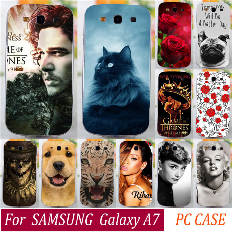 Cool Men Jon Snow Cute Animal Dog Cat Rose Eiffel Tower Rihanna Phone Cases For Samsung Galaxy A7 A7000 Phone Case Cover Shell(China (Mainland))