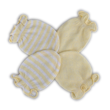 2 Pair New Cute Baby Gloves Soft Cotton Newborn Infant Anti-Scratch Handguard Mittens Baby Gloves