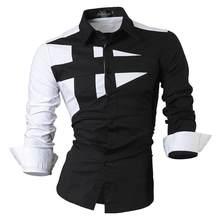 Jeansian/мужские повседневные рубашки, Стильный дизайнерский с длинными рукавами, на пуговицах, приталенный, 8397, черный(China)