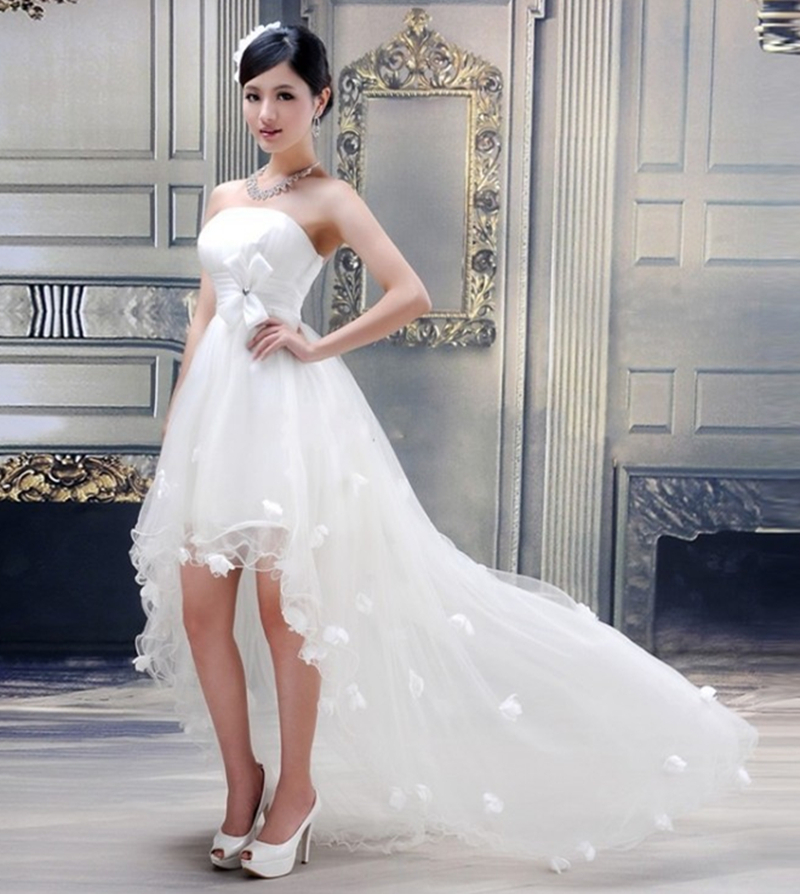 Buy 2015 simple white organza appliques for Buy petite wedding dresses