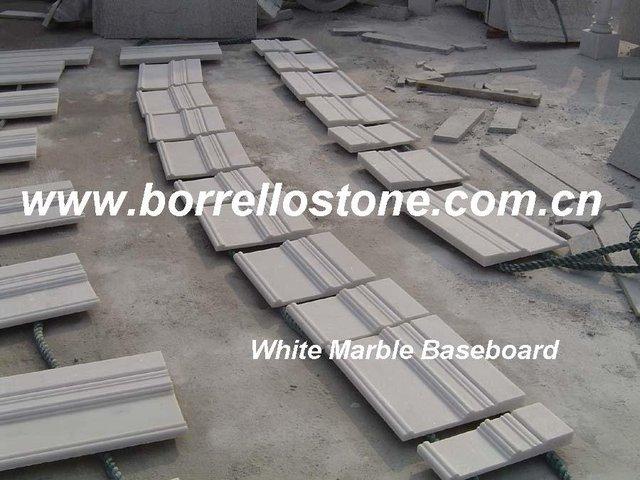 Laizhou White Marble Wall Baseboard