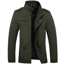 Buy New 2017 Men's Casual Bomber Jacket Male Multi-pocket Stand Collar Fashion Men Coat Army military Slim Mens Jackets Size M-4XL for $32.44 in AliExpress store