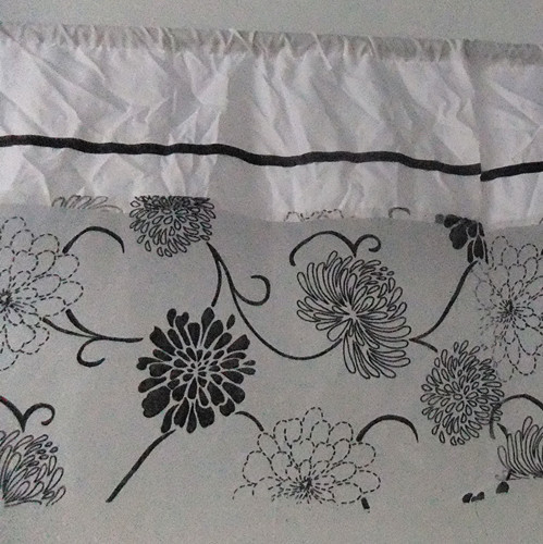Free shipping 180cm wide flocking juxtaposition new kitchen curtains(China (Mainland))