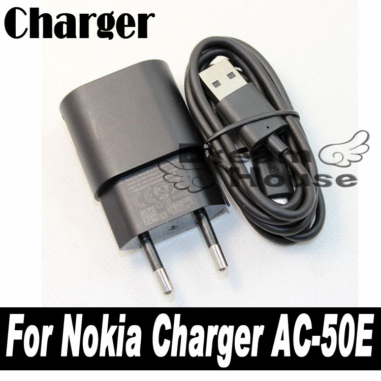 High Quality 5V/1.3A AC-50E/50C Travel Charger Adapter + Micro USB Data Cable For Nokia lumia 625 920 1020 900 920t 820 720 620(China (Mainland))
