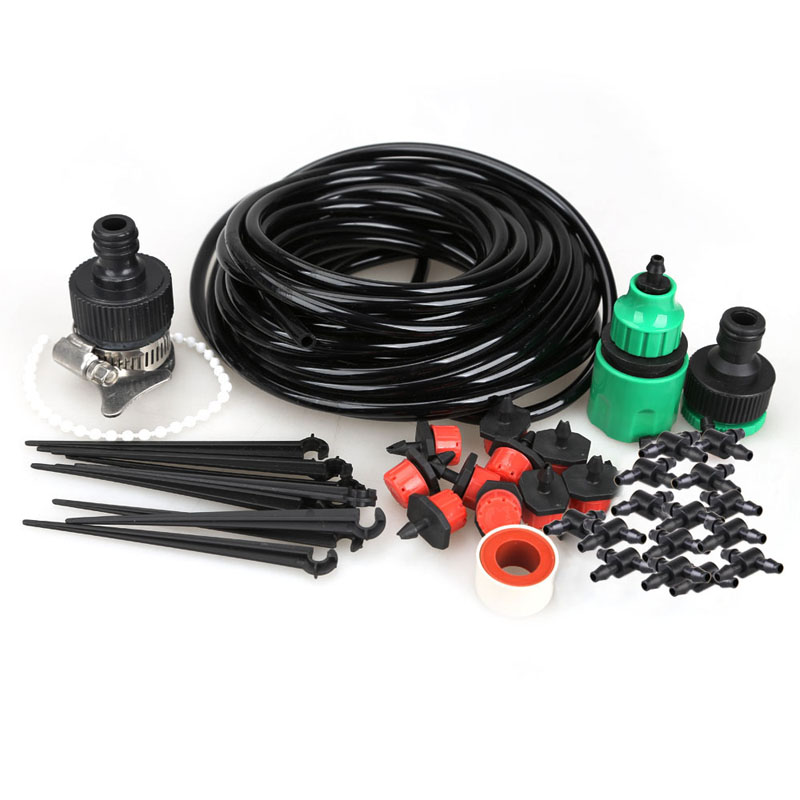 Free shipping high quality 10m DIY Micro Drip Irrigation System Plant Self Watering Garden Hose Best Price(China (Mainland))