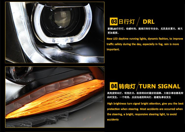 Auto Clud Style Head Lamp for VW Jetta MK6 led headlights new Jetta headlight drl H7 hid Q5 Bi-Xenon Lens low beam