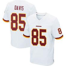 Men's #85 Vernon Davis Elite White Football Jersey 100% Stitched(China (Mainland))