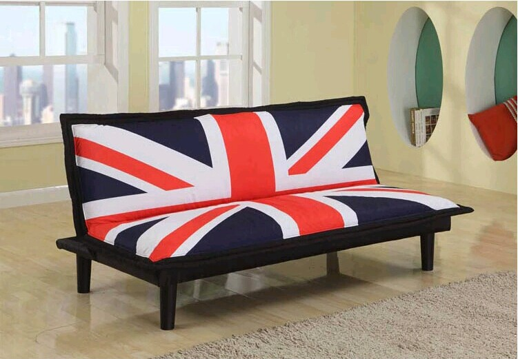 hot sale modern fabric sofa bed with flag(China (Mainland))