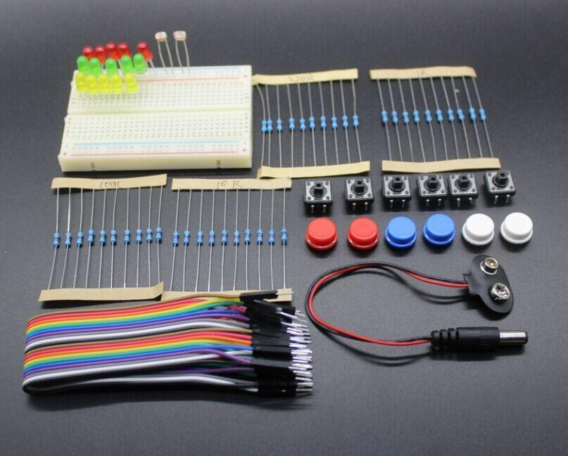 new Starter Kit for arduino uno r3 mini Breadboard LED jumper wire button(China (Mainland))
