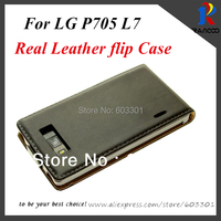 Genuine Leather flip case for LG Optimus L7 P705, real leather cover for LG L7 P705, 11 color, free ship