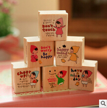 Baisoo stationery supplies fresh antique design metal wooden stamps for school office student book prize16pcs/set oulm wholesale(China (Mainland))