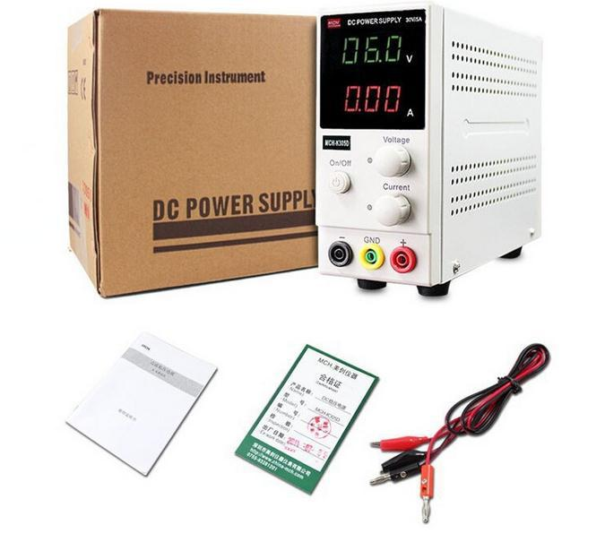 Free ship New Design MCH K305D Mini Switching Regulated Adjustable DC Power Supply SMPS Single Channel