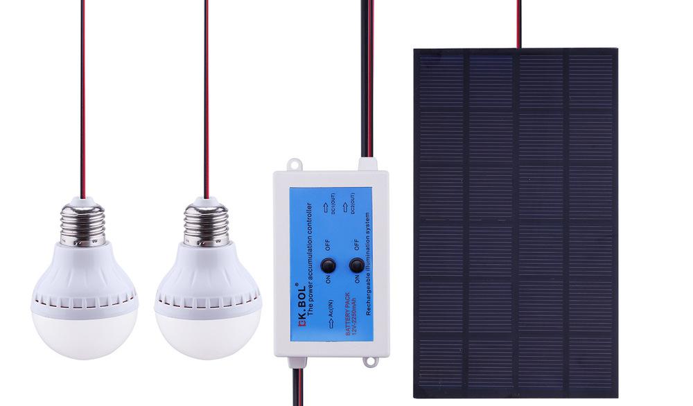 Solar Power Panels Lighting Po Chu Small Solar Home Lighting System Solar Charging System for Mobile Phone Camera LED Lights(China (Mainland))