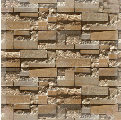 3d stone brick wall paper grey luxury wallpaper for living