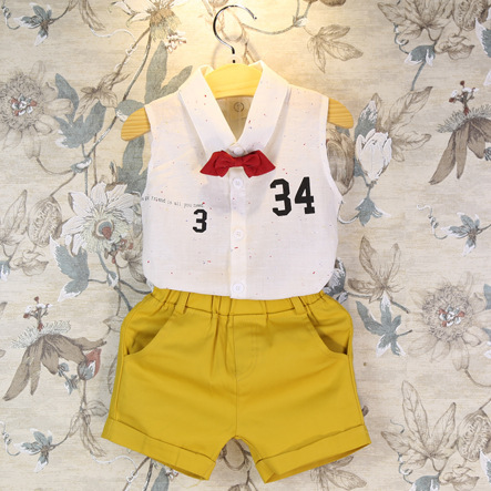 Children clothing manufacturers China baby girl clothing 2015 girls summer set t shirt + shorts kids outfits AA062(China (Mainland))