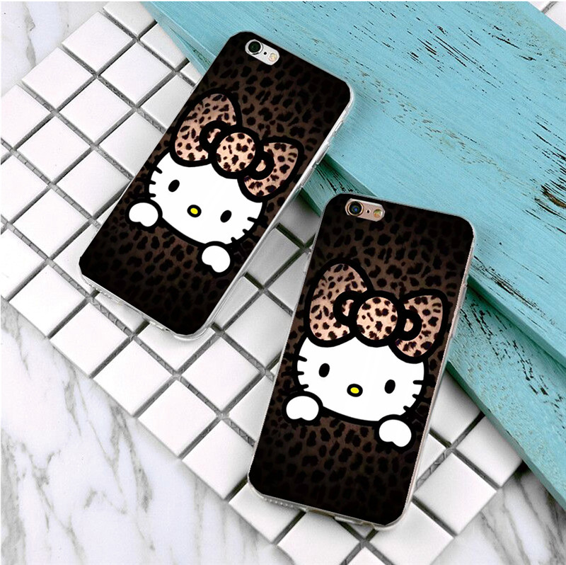 New Arrival Ultrathin Luxury printing Hard plastics Case for iphone 5 5s SE 5c 4s 6 6s 7 plus Hello Kitty pattern Phone Case(China (Mainland))