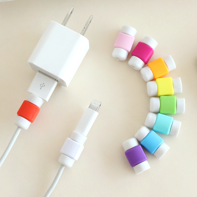 6 Pieces Cable Protector For iPhone Mobile USB Charging Cable Protection D2 Earphone Line Silicone Data line Protective Sleeves(China (Mainland))