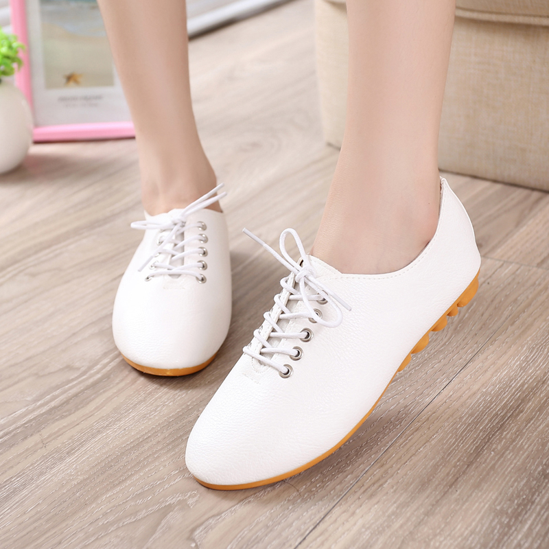 2016 spring new strap casual shoes Korean girl  fashion leather  flat white British style women shoes hot sale  ND006<br><br>Aliexpress
