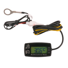Digital tach hour meter theomometer temp meter for gas engine motorcycle marine jet ski buggy tractor pit bike paramotor bu