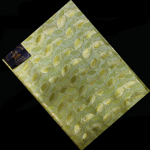 ST9-2 Golden New Design Embroidery French Sego Head tie High Qaulity Plain Style African Ladies Bandana Wholesale(China (Mainland))