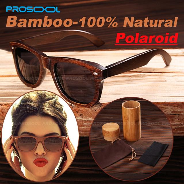 100% настоящее топ бамбука деревянный солнцезащитные очки поляризованные ручной древесины ...