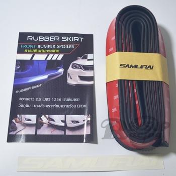 DIY Easy To Install SAMURAI 2.5m Universal Rubber Foam Front Bumper Lip Skirt Splitter Spoiler Trim Protector Strip