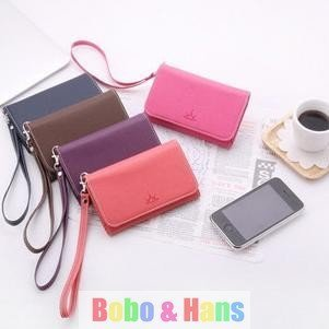 New Cute crown PU Mobile phone bag & case / card holder / Coin purse / Fashion/Wholesale