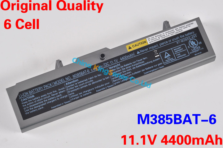 Hot Sale Original Quality New Laptop Battery for CLEVO M385BAT-6 87-M385S-495 11.1V 4400mAh 6CELL Free Shipping(China (Mainland))