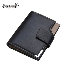 AEQUEEN Men Wallet PU Leather Short Wallets Male Purse Solid 3 Fold Man Wallets ID Card Credit Cards Holder Coin Purses Pouch(China (Mainland))