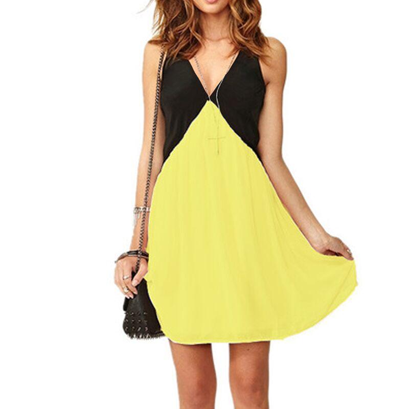 New Fashion 2016 Summer Dress Women Plus Size Sleeveless Sexy V-Neck Chiffon Patchwork Vintage Party Dresses 6XL 5XL XXXXL(China (Mainland))