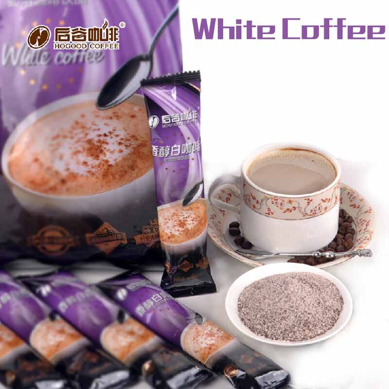Free Shipping Hogood Pure Mellow White Instant green Coffee Cafe Blanco Meloso 20pcs 600g Buy from