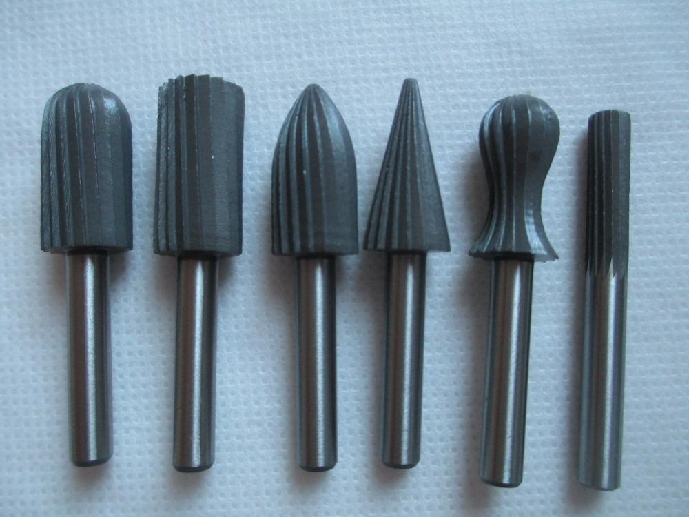 6pcs Carbide Cutter Rotary Burr Set CNC Engraving Bit Rotary File Bur Burr Grinding Shank 6mm 1/4 For Dremel Rotary Tools New<br><br>Aliexpress