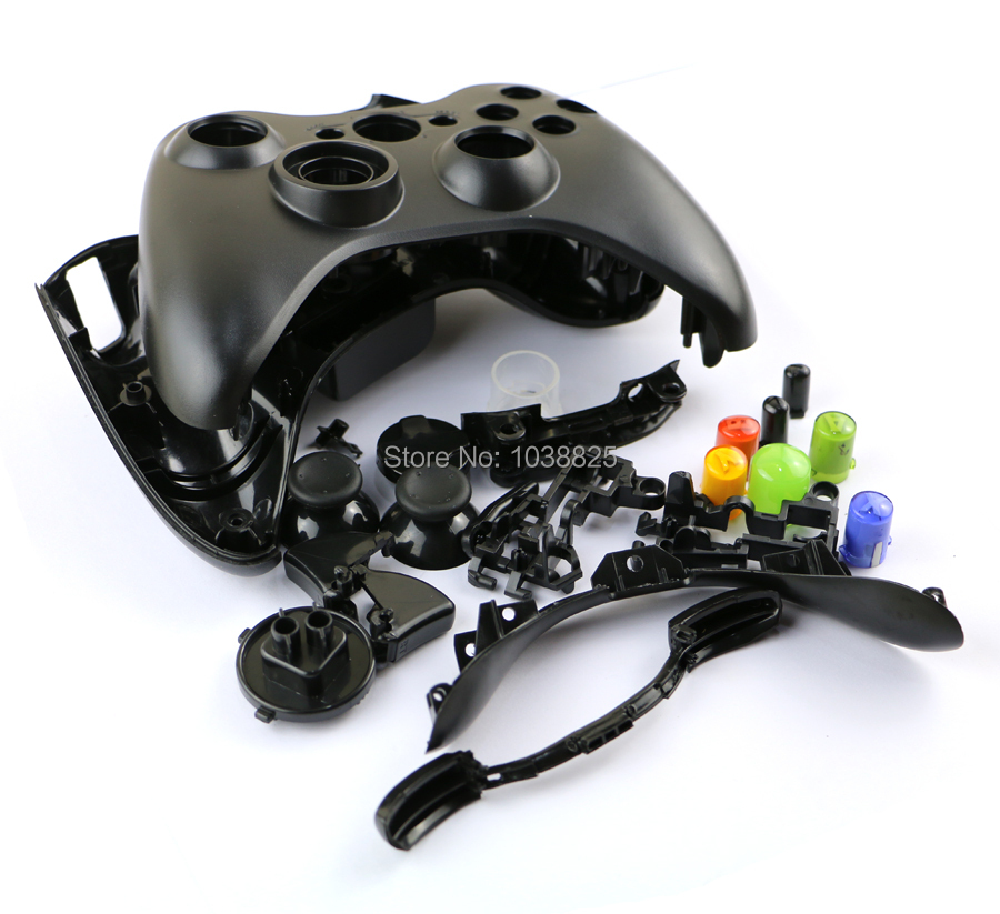 Replacement Housing Case with All Parts Button Full Shell for Xbox360 Joystick Wireless Xbox360 Controller Cover 5pcs/lot(China (Mainland))