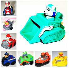 1 piece  cute puppy of  Action Toy Figures dogs  plastic scooter cartoon car( everest dog) with original box free shipping(China (Mainland))