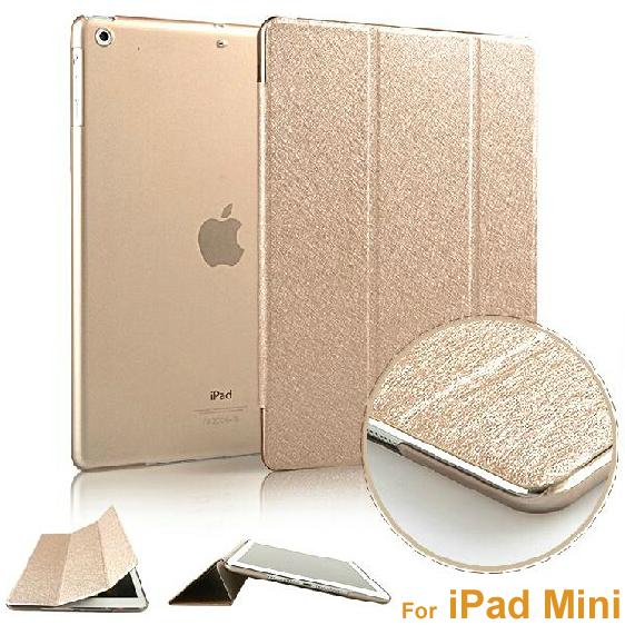 Luxury Ultra Slim Magnetic Smart Flip Stand PU Leather Cover Case For Apple iPad Mini 1 2 Retina Display Wake Up/Sleep Function(China (Mainland))