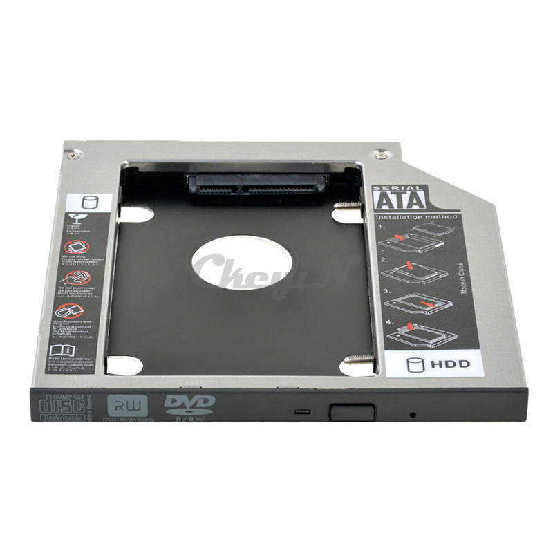 """Universal Second 2nd HDD Caddy Tray 9.5mm SATA to Sata3.0 Case 2.5"""" HDD SSD External Enclosure for DELL ASUS ACER HP Optical Bay(China (Mainland))"""