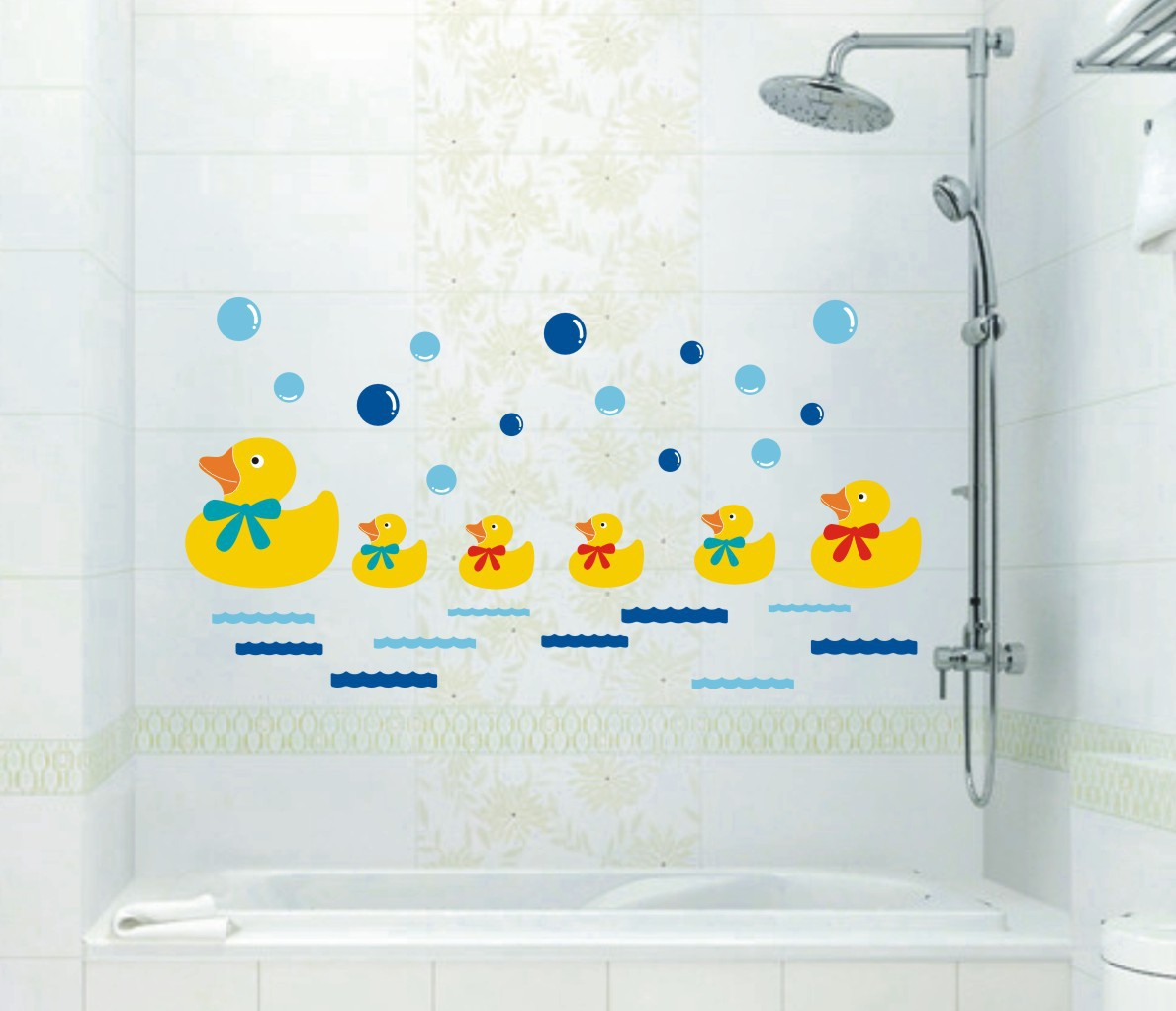 2016 Time-limited Real Sticker Children's Furniture Tang Ducklings Kids Room Bedroom Living Bath Wallpaper Stickers(China (Mainland))