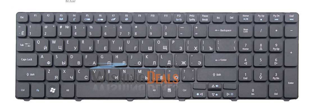For Acer Aspire 5745DG 5745G 5745P 5745PG 5745Z 5749Z 5750G 5750Z 5750ZG RU Russian black Keyboard F3 Wireless free shipping(China (Mainland))