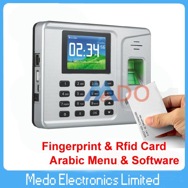 Arabic Menu and Software Tcp/ip Biometric Fingerprint & Rfid Time Attendance Managment System(China (Mainland))