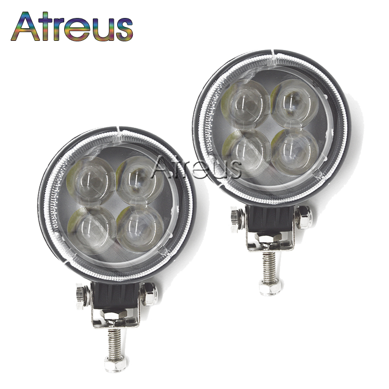 2pcs 3 Inch 12W 4D LED Work Light 12V Spot for Indicators Motorcycle Offroad Boat Tractor Truck 4x4 SUV ATV Car Driving Fog Lamp(China (Mainland))