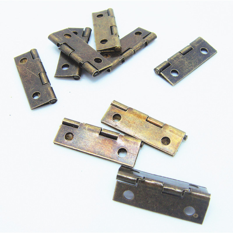 50pcs 24*10mm Within a 90-inch flat wooden boxes built hinge positioning small metal cabinet hinge(China (Mainland))