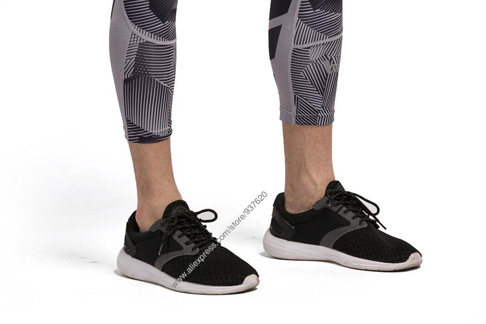 Vansydical Geometric Skinny Sport Yogo Fight Shorts for Men (10)