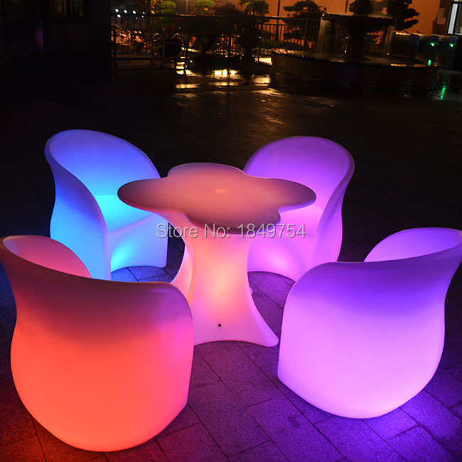 LED illuminated cocktail table,coffee table outdoor LED Bubble light plastic  -> Table Galet Led