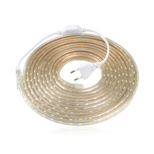 Buy Upgrad copper wire 220V SMD 5050 LED Strip Light 1m 18M IP65 Waterproof led tape outdoor lighting Decor lamp + EU plug Adapter for $4.99 in AliExpress store