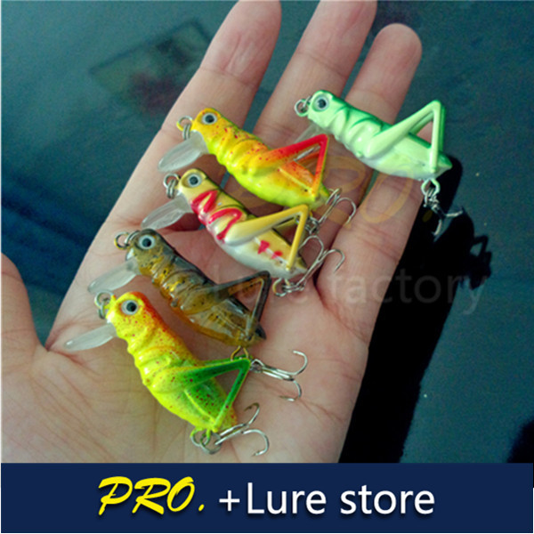 Free shipping 5pcs hard artificial bug insects locusts lure shrill topwater lure grasshipper baits lure for lure fishing trackle(China (Mainland))