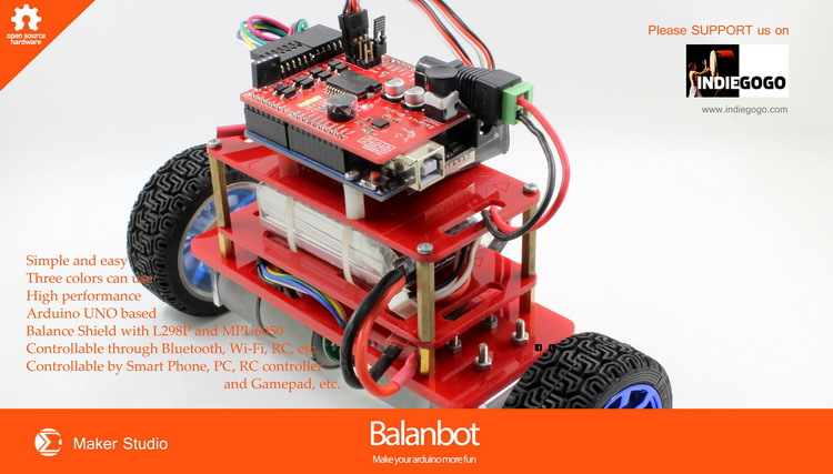 Balanbot self balancing robot kit balance car for