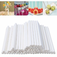 Solid Paper Lollipop Stick 100pcs