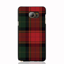 07287 RED BLUE TARTAN SCARF FASHION cell phone case cover for Samsung Galaxy Note 3,4,5,E5,E7 CORE Max G5108Q